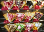 """Lots of these """"crepes"""" for sale in Harajuku."""