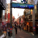 The famous street next to Harajuku station