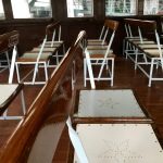 Taking a seat on the Star Ferry from Hong Kong Island to Kowloon