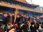 Incense everywhere at the Wong Tai Sin Temple