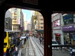 View from the Ding Ding Tram in Hong Kong