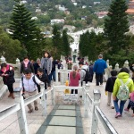 Going down 260 steps is easier than going up!