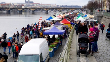Saturday's Naplavka market