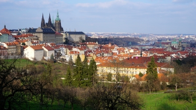 View of Prague from the hillside