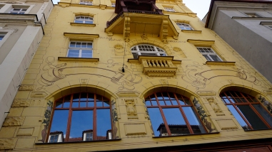 Building with art nouveau flourishes