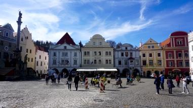 Český Krumlov town center