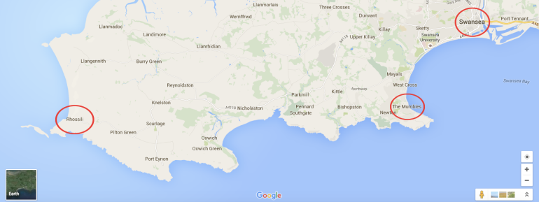 Swansea map