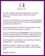 HAWC Statement - Charleston Shooting