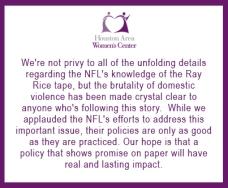 HAWC Statement - NFL Latest
