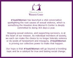 HAWC Statement - Yes All Women