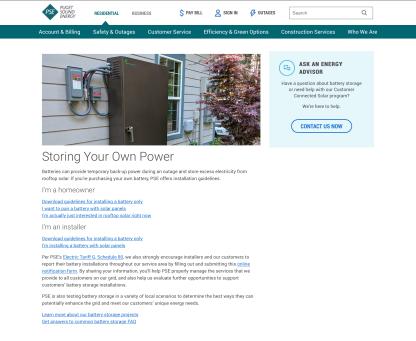 PSE Storage Power page